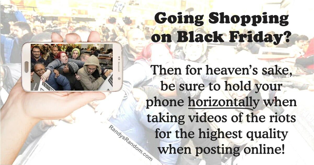 Black Friday Tip Randy S Random
